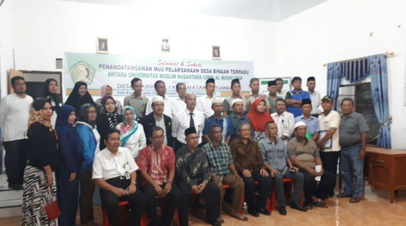 Desa Marindal I Jadi 'Kampung Binaan' UMN Al-Washliyah
