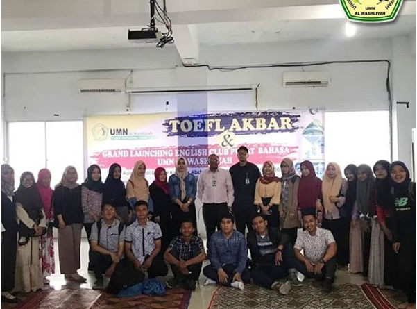 TOEFL Akbar dan Grand Launching English Club Pusat Bahasa UMN Al Washliyah