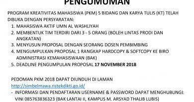 Pengumuman PKM 2018