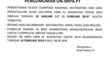 ON MIPA UMN AL WASHLIYAH 2019