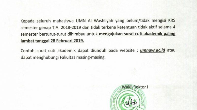 Mengajukan Surat Cuti Akademik