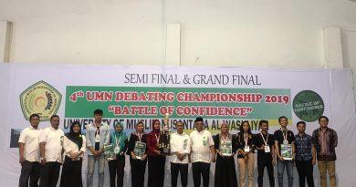 Pemenang UMN Debating Championship dalam rangka memperebutkan Piala Rektor tahun 2019