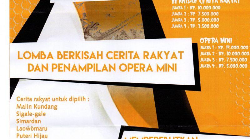 Lomba Bercerita Kisah Rakyat dan Opera Mini tingkat SMA dan Mahasiswa dalam rangka Merebutkan Piala Kapolda SUMUT 2019
