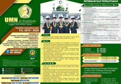 Brosur UMN Al Washliyah TA 2019/2020
