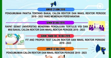 Pengumuman Jadwal Pemilihan Rektor dan Wakil Rektor UMN Al Washliyah Periode 2019-2023