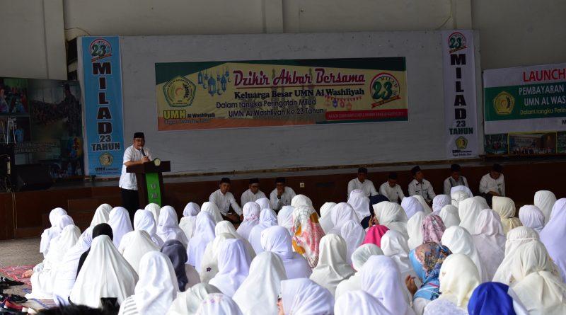 Dzikir Akbar Bersama Dalam Rangka Milad UMN Al Washliyah ke 23 Tahun