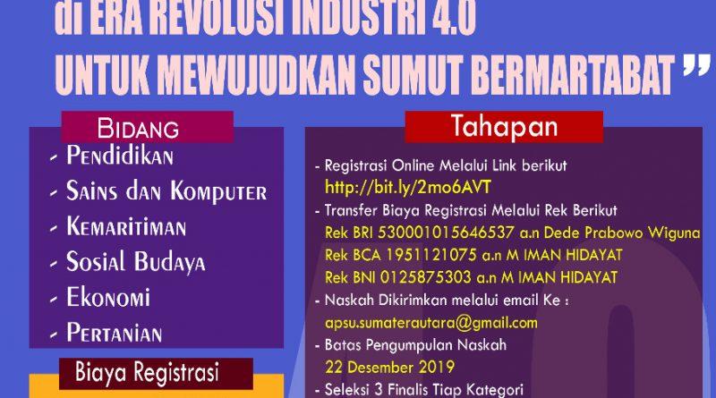 Asosiasi Peneliti Sumatera Utara SCIENCE EVENT Call For Paper