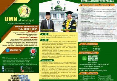 Brosur UMN Al Washliyah TA 2020/2021