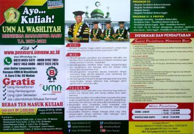 Tata Cara Pendaftaran Online UMN Al Washliyah