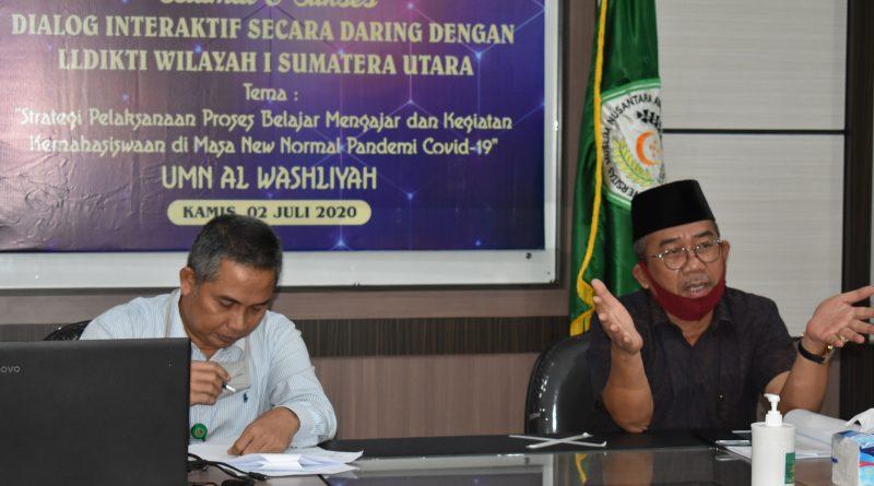 UMN Al Washliyah Minta Masukan 2 Guru Besar Terkait Strategi KBM di Masa New Normal Pandemi Covid-19