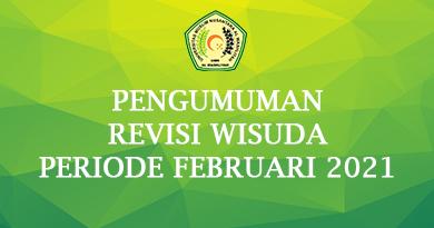 Pengumuman Revisi Wisuda Periode Februari 2021