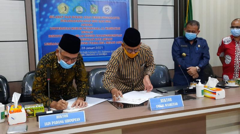 UMN Al Washliyah Lakukan MoU dan MoA dengan 3 Instansi Pemerintah dan Swasta