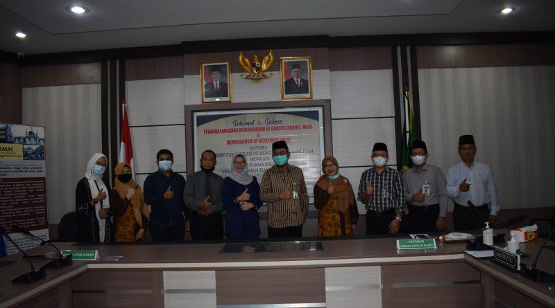 Penandatanganan MOU dan MOA Antara UMN Al Washliyah dengan STIM SUKMA Medan dan Yayasan Taman Harapan Bunda