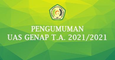 Pengumuman Ujian Semester Genap T.A 2020-2021