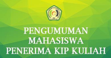 PENGUMUMAN MAHASISWA PENERIMA KIP KULIAH TAHAP I