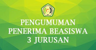 PENGUMUMAN PENERIMA BEASISWA 3 JURUSAN UMN AL WASHLIYAH TA. 2021/2022